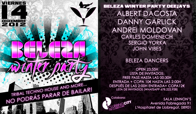 Flyer Beleza Winter Party