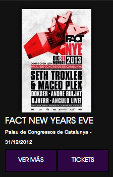 FACT NEW YEARS EVE en el Palau de Congressos de Barcelona.