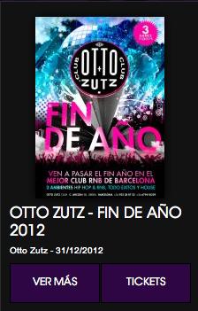 Fin de año en Otto Zutz de Barcelona.