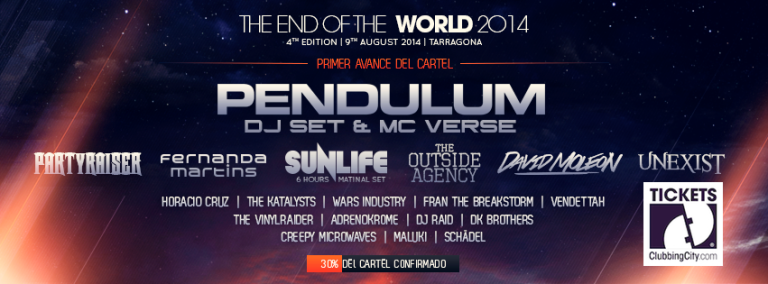 The End of the World Festival 2014, primeras confirmaciones.