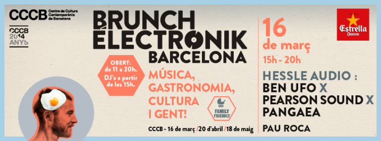 Brunch Electronik 1, domingo 16 de marzo.
