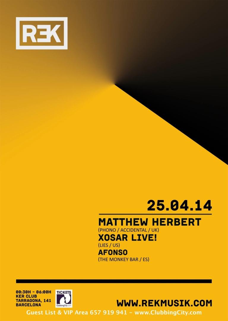 KER presents: REK con Matthew Herbert