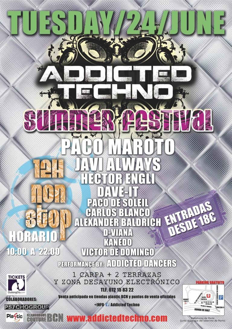 Addicted Techno presenta: Matinal Summer Festival Sant Joan 2014. Entradas anticipadas.