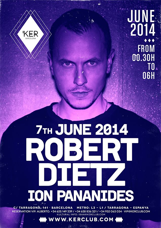 Guest List KER Club Barcelona: saturday 7th june.